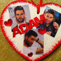 Adam Levine Christmas ornament--free personalization