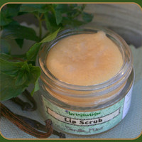 Organic Vanilla Mint Lip Scrub and Lip Balm 2 in 1 Natural yummy with Raw Honey, 1.2 oz - big size. PICK YOUR FLAVOR