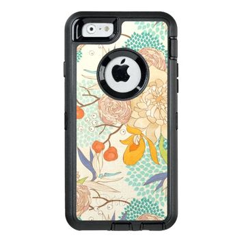 Modern Rose Peony Flower Pattern OtterBox iPhone 6/6s Case