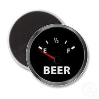 Out of Beer Fuel Gauge Refrigerator Magnets from Zazzle.com