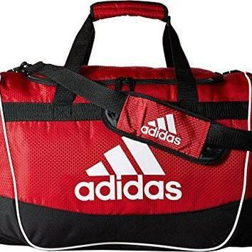 adidas Defender II Duffel Bag (Small), University Red, 11.75 x 20.5 x 11-Inch