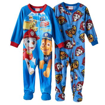 Paw Patrol 2-pk. Fleece Footed Pajamas - Toddler Boy, Size: