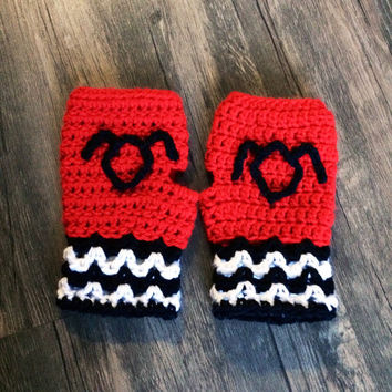 Twin Peaks Inspired Fingerless Gloves, Black Lodge Mitts, The Owls are Not What They Seem