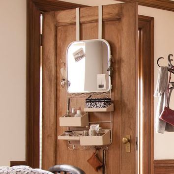 Over The Door Mirror Rack