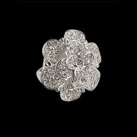 7 carat diamonds ring unique style floral flower design gold new