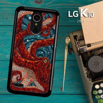 Kraken Octopus Stained Glass L1586 LG K10 2017 / LG K20 Plus / LG Harmony Case