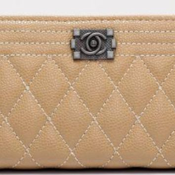 chanel 2017 new fashion leather zipper Cellphone bag [99348840463]