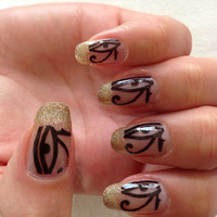 EGYPTIAN EYES NAIL decals Positive Protection