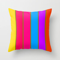 Happy Stripes #1 Throw Pillow by 2sweet4words Designs | Society6