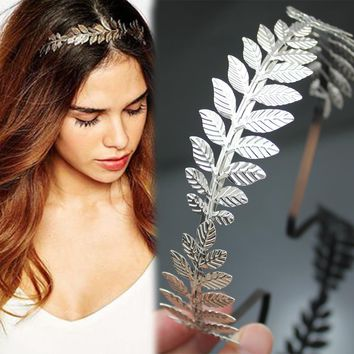 Roman Goddess Laurel Leaf  Dainty Hair Crown Tiara