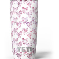 Pink and Red Mini Hearts of a Whole Yeti Rambler Skin Kit