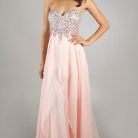 2014 New Beads Sleeveless Long Evening Formal Party Wedding Prom Dress Ball Gown