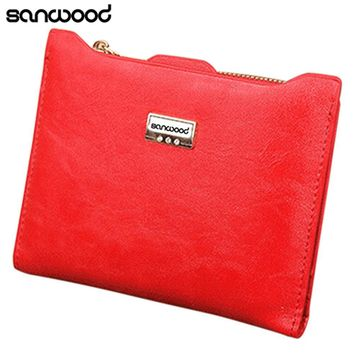 Women's Fashion Wallet Faux Leather Bifold Zipper Credit Cards Holder Slim Purse 9XRE