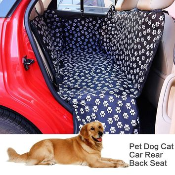 Paw Pattern Waterproof Pet Car Seat Cover Cushion Protector