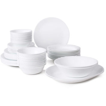 Walmart: Corelle Livingware 76-Piece Dinnerware Set, Winter Frost White