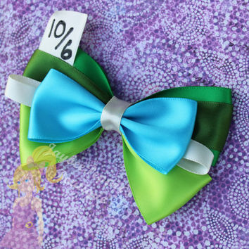 Mad Hatter Hair bow Alice in Wonderland hair bow Disney inspired hair clip  girls teen woman