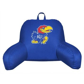 Kansas Jayhawks Sideline Backrest Pillow (Blue)