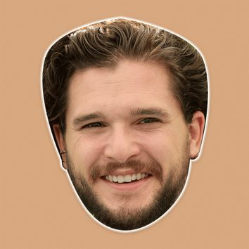 Excited Kit Harington Mask - Perfect for Halloween, Costume Party Mask, Masquerades, Parties, Festivals, Concerts - Jumbo Size Waterproof Laminated Mask