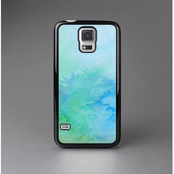 The Subtle Green & Blue Watercolor V2 Skin-Sert Case for the Samsung Galaxy S5
