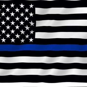 Blue Line usa Police Flags, 90*150cm Thin Blue Line USA Flag Black White And Blue line Flag With Grommets Epacket ping
