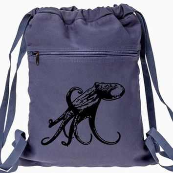 Octopus Backpack - Drawstring Book Bag