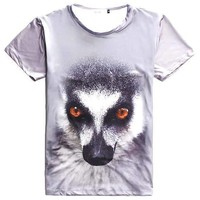 Ring Tailed Lemur Face Print Graphic Tee T-Shirts | DOTOLY
