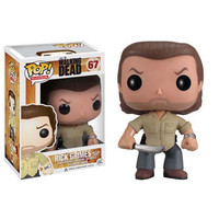 Funko POP! The Walking Dead - Vinyl Figure - PRISON YARD RICK GRIMES (4 inch) (Pre-Order ships Aug): BBToyStore.com - Toys, Plush, Trading Cards, Action Figures & Games online retail store shop sale