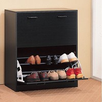 Safford Double Shoe Rack in Cappuccino