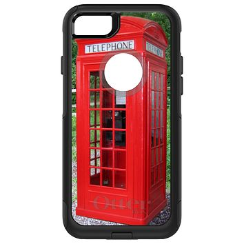 DistinctInk™ OtterBox Commuter Series Case for Apple iPhone or Samsung Galaxy - Red London Phone Booth
