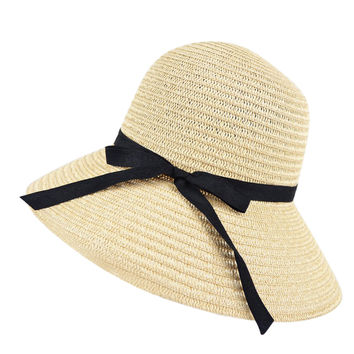 Fashion Women Wide Brim Beach Sun Hat Paper Straw Floppy Elegant Bohemia Cap  SN9