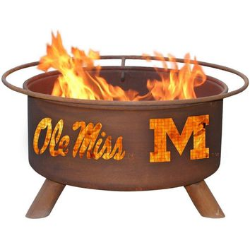 Ole Miss Steel Fire Pit by Patina Products