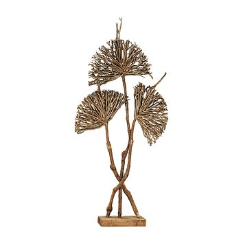 2181-022 Pensacola Wooden Botanical Fan Sculpture - Free Shipping!
