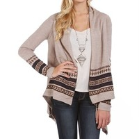 Oatmeal Southwest Cardigan