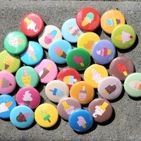 Ice Cream Buttons Set of 30 Pinbacks Badges 1 inch
