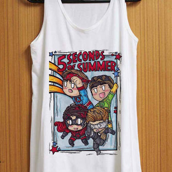 5 Second Of Summer The Avengers Cartoon tank top for womens and mens heppy feed