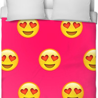 Heart Eye Emoji Duvet Cover