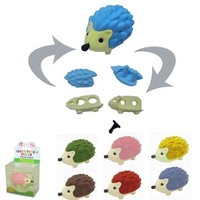 Japanese Puzzle Eraser Collectible Prickles the Hedgehog Style, Fun & Unique Gifts