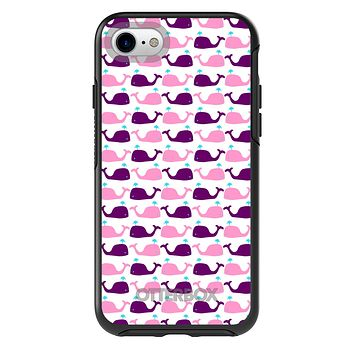 DistinctInk™ OtterBox Symmetry Series Case for Apple iPhone / Samsung Galaxy / Google Pixel - Purple Pink Cartoon Whales