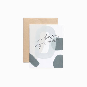 Abstract Father's Day card - I love you dad