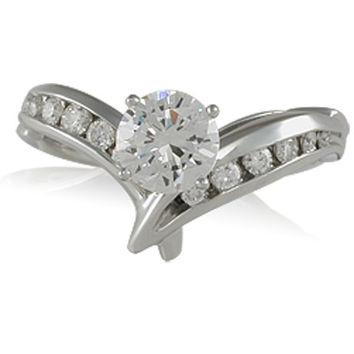 Vivadore Contemporary Diamond Engagement Ring Featuring 0.51 Carats Diamonds