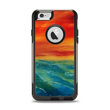 The Abstract Sunset Painting Apple iPhone 6 Otterbox Commuter Case Skin Set