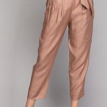Aiden Cupro Tencel Trouser in Cocoa