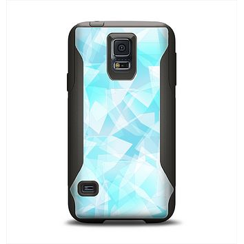 The Vector Abstract Shaped Blue Overlay Samsung Galaxy S5 Otterbox Commuter Case Skin Set