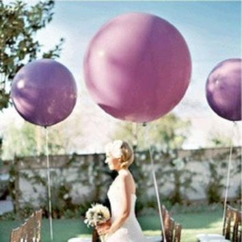 ca PEAPTM4 5pcs/lot 36 Inch Super Big Large Wedding Decoration Birthday Party Ballons Thickening Multicolor Latex giant huge Balloon [8403802951]