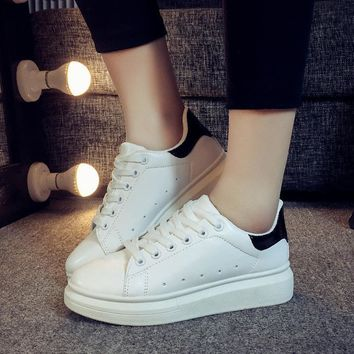 Casual Stylish Comfort On Sale Hot Sale Hot Deal Korean Summer Thick Crust Shoes Sneakers [11847332623]