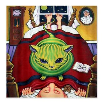 Alien Abduction Cat Shower Curtain> Coastal, Vintage and Urban Chic Shower Curtains> Rebecca Korpita Coastal Design