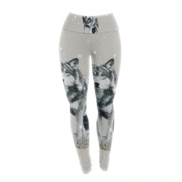 "Monika Strigel ""Wolf"" Yoga Leggings"