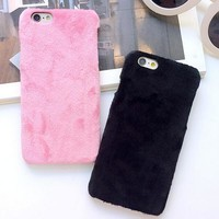 Cute Furry Creative Case Cover for iPhone 5s 6 6s Plus 7