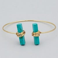 WIRE-WRAPPED TURQUOISE BRACELET