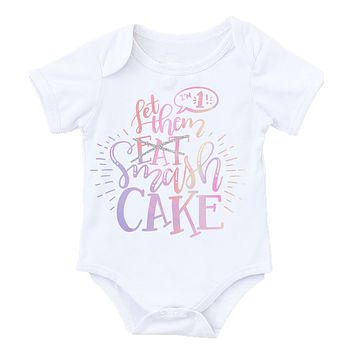371aafbb3c3b First Birthday Outfit Baby Girl Unicorn Pastel Colors Pink